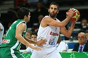 DESCRIZIONE : Kaunas Lithuania Lituania Eurobasket Men 2011 Quarter Final Round Spagna Slovenia Spain Slovenia<br /> GIOCATORE : Juan Carlos Navarro<br /> CATEGORIA : palleggio<br /> SQUADRA : Spagna Spain <br /> EVENTO : Eurobasket Men 2011<br /> GARA : Spagna Slovenia Spain Slovenia<br /> DATA : 14/09/2011<br /> SPORT : Pallacanestro <br /> AUTORE : Agenzia Ciamillo-Castoria/G.Matthaios<br /> Galleria : Eurobasket Men 2011<br /> Fotonotizia : Kaunas Lithuania Lituania Eurobasket Men 2011 Quarter Final Round Spagna Slovenia Spain Slovenia<br /> Predefinita :