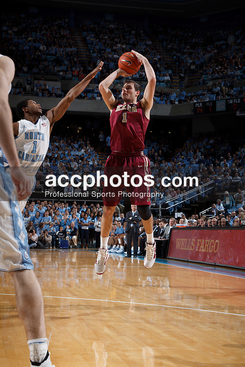 CHAPEL HILL, NC - DECEMBER 29: Drew Spradlin #1 of the Elon Phoenix shoots the ball while playing against the North Carolina Tar Heels on December 29, 2011 at the Dean E. Smith Center in Chapel Hill, North Carolina. North Carolina won 62-100. (Photo by Peyton Williams/UNC/Getty Images) *** Local Caption *** Drew Spradlin