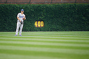 CHICAGO, IL - JUNE 25: Joc Pederson #31 of the Los Angeles Dodgers stands ready in the outfield during the game against the Chicago Cubs at Wrigley Field on June 25, 2015 in Chicago, Illinois. The Dodgers defeated the Cubs 4-0. (Photo by Joe Robbins) *** Local Caption *** Joc Pederson