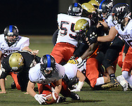 Tennent's Sean Bragen recovers a fumble against Truman  in the first quarter Friday October 30, 2015 at Harry S. Truman High School in Levittown, Pennsylvania.  (Photo by William Thomas Cain)