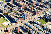 Nederland, Noord-Holland, Amsterdam, 20-04-2015; IJburg, Haven-eiland West, detail van het stratenplan omgeving Daguerretraat.<br /> IJburg, the new urban development district of Amsterdam, detail  of the street grid  of the main island.