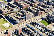 Nederland, Noord-Holland, Amsterdam, 20-04-2015; IJburg, Haven-eiland West, detail van het stratenplan omgeving Daguerretraat.<br /> IJburg, the new urban development district of Amsterdam, detail  of the street grid  of the main island.
