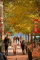 Students head to class on North Campus.