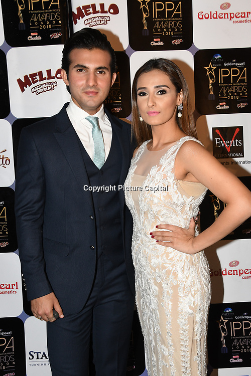 Azfar Rehman, Ayesha Omer is a Pakistani actor/actress arrives at the Annual International Pakistan Prestige Awards (IPPA) at Indigo at The O2 on 9th September 2018, London, UK.