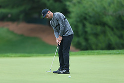 June 23, 2018 - Cromwell, Connecticut, United States - Paul Casey putts the 8th green during the third round of the Travelers Championship at TPC River Highlands. (Credit Image: © Debby Wong via ZUMA Wire)