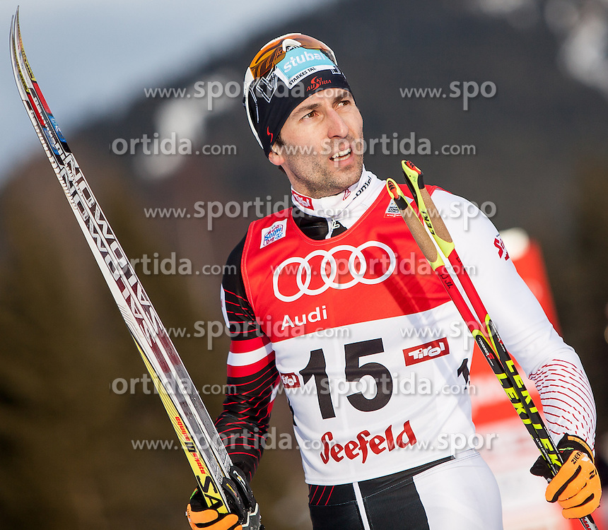 18.01.2014, Casino Arena, Seefeld, AUT, FIS Weltcup Nordische Kombination, Seefeld Triple, Langlauf, im Bild Wilhelm Denifl (AUT) // Wilhelm Denifl (AUT) during Cross Country at FIS Nordic Combined World Cup Triple at the Casino Arena in Seefeld, Austria on 2014/01/18. EXPA Pictures © 2014, PhotoCredit: EXPA/ JFK