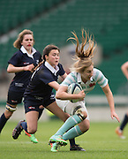 Twickenham, United Kingdom. Anna WILSON, breaking through the Oxford line during the 2015 Women's Varsity Match, Oxford vs Cambridge, RFU Twickenham Stadium, England.<br /> <br /> Thursday  10/12/2015<br /> <br /> [Mandatory Credit. Peter SPURRIER/Intersport Images].