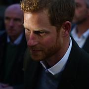 London, England, UK. 9th January 2018. Prince Harry visit Reprezent 107.3FM Radio station.