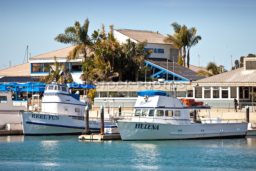 Fishing Boats Docked In Dana Point Harbor