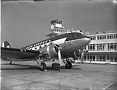 1956-Aircraft landing and on tarmac at Dublin Airport.
