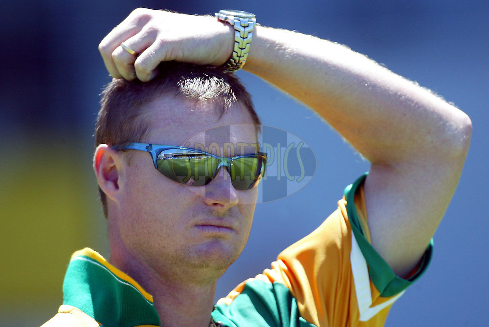 13 February 2004, International one day cricket, Eden Park, Auckland, New Zealand. Match 1 in series of 6, New Zealand vs South Africa..Lance Klusener..Pic: Andrew Cornaga/Photosport