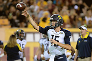 TEMPE, AZ - SEPTEMBER 03:  Quarterback Case Cookus #15 of the Northern Arizona Lumberjacks warms up prior to the game against the Arizona State Sun Devils at Sun Devil Stadium on September 3, 2016 in Tempe, Arizona.  (Photo by Jennifer Stewart/Getty Images)