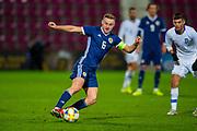 Allan Campbell (#6) of Scotland U21 (Motherwell) during the U21 UEFA EUROPEAN CHAMPIONSHIPS match between U21 Scotland and U21 Greece at Tynecastle Park, Edinburgh, Scotland on 15 November 2019.