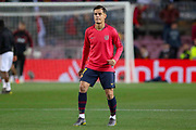 Barcelona midfielder Philippe Coutinho (7) warm up during the Champions League quarter-final leg 2 of 2 match between Barcelona and Manchester United at Camp Nou, Barcelona, Spain on 16 April 2019.