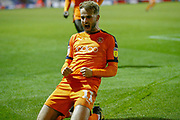 Goal Luton Town midfielder Andrew Shinnie (11) celebrates scoring during the EFL Sky Bet League 1 match between Luton Town and Accrington Stanley at Kenilworth Road, Luton, England on 23 October 2018.