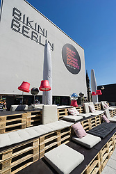 Rooftop bar area at Bikini Berlin new shopping centre in Berlin Germany
