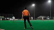Umpire Bruce Bale for Canterbury against Surbiton in the NOW: Pension Men's Hockey League Premier Division, Polo Farm, Canterbury, Kent, 22nd November 2014.