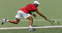 MELBOURNE, AUSTRALIA - JANUARY 23:  James Blake of USA in action during day five of the Australian Open January 23, 2004 in Melbourne, Australia. (Photo by Lars Mueller/Sportsbeat) *** Local Caption *** -