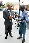 17 August- New York, NY:  (L) U.S. Congressman Hakeem Jefferies attends the endorsement announcement by U.S.Congressman Hakeem Jeffries of Laurie Cumbo for City Council District 35 held at the Laurie Cumbo Campaign Headquarters in the Prospect Heights section of Brooklyn, NY on August 17, 2013 in New York City. © Terrence Jennings