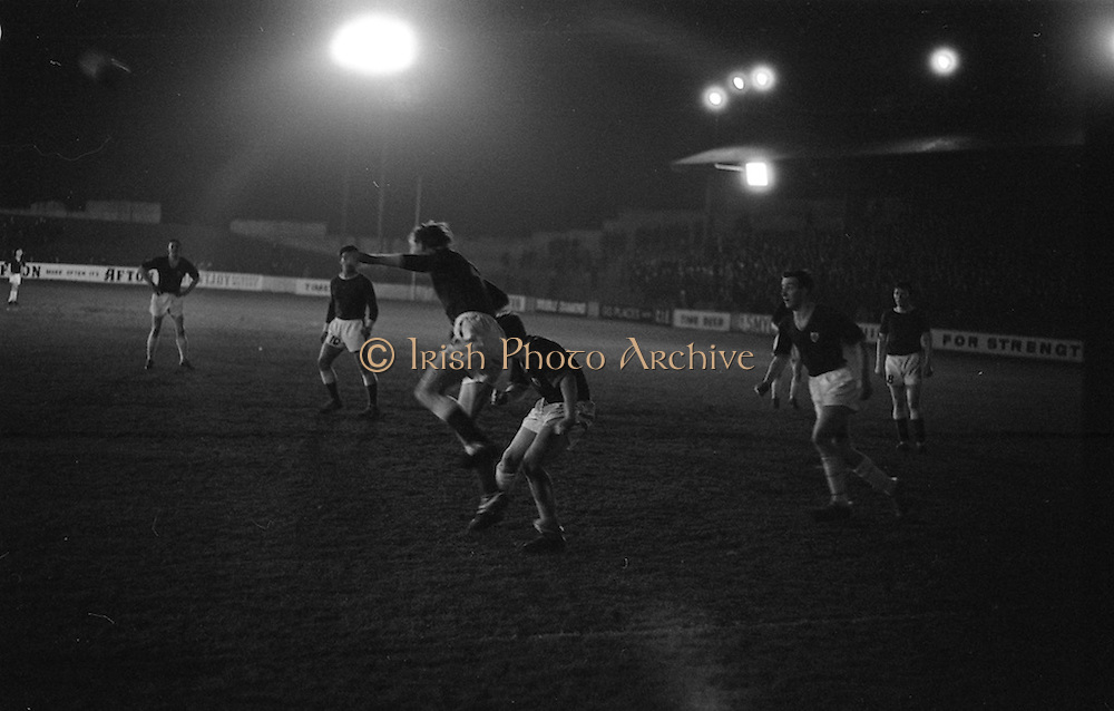 10/03/1965<br /> 03/10/1965<br /> 10 March 1965<br /> F.A.I. Cup replay (2rd round): Cork Celtic v Belgrove  at Tolka Park, Dublin. Celtic won the game 1-0.