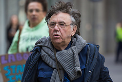London, UK. 30th April 2019. Peter Willsman, secretary of the Campaign for Labour Party Democracy, arrives for a Labour Party NEC meeting to confirm plans for Labour's EU election manifesto, including its stance with regard to a second referendum.