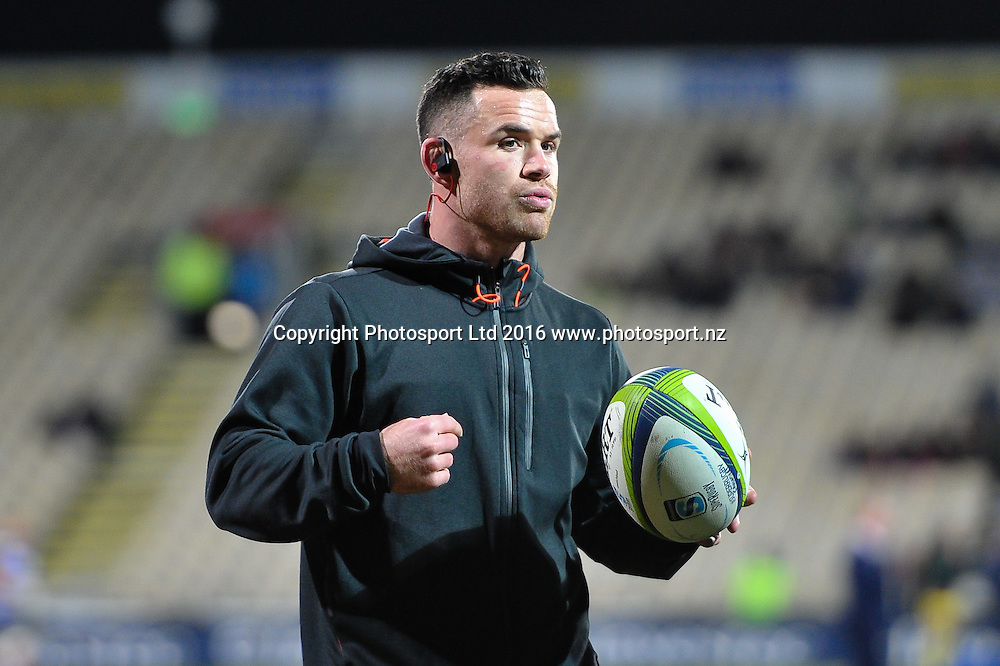Ryan Crotty of the Crusaders warming up during the Super Rugby Match, Crusaders V Rebels, AMI Stadium, Christchurch, New Zealand. 9th July 2016. Copyright Photo: John Davidson / www.photosport.nz