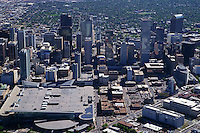 Aerial View, Downtown Denver & Convention Center