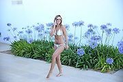 EXCLUSIVE<br /> Sam Faires looking stunning in Bikini by the pool in Ibiza<br /> ©Exclusivepix Media