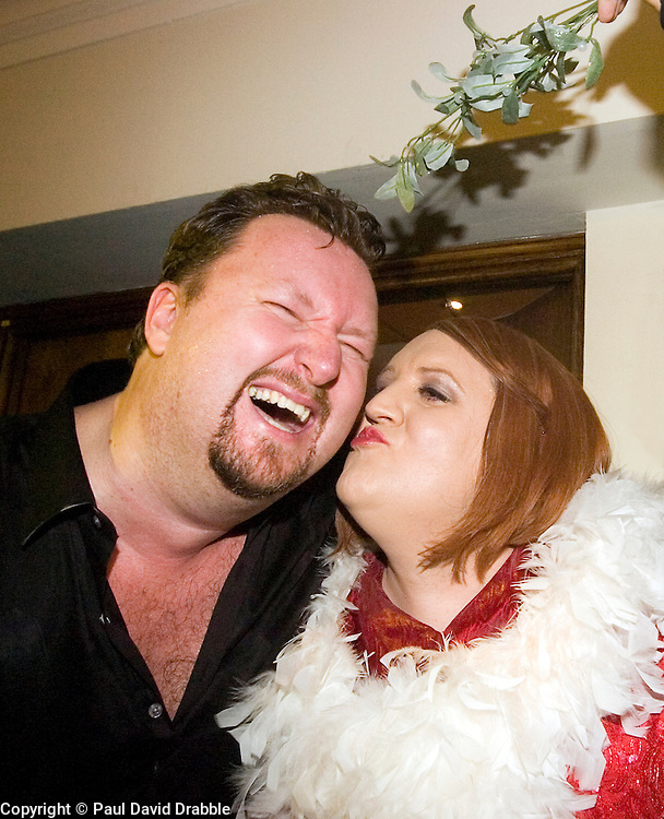 Peter Kay in character as Geraldine McQueen with Singer Song writer Elliot Kennedy for a Christmas Charity Concert at Sheffield City Hall in Aid of Weston Park  Cancer Hospital & Cavendish Cancer Charity   (Peter Kay)<br /> <br /> 17 December 2008  © Paul David Drabble<br /> www.pauldaviddrabble.co.uk