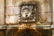 Detail of Onofrio's Fountain, old town Dubrovnik, Dalmatian Coast,, Croatia