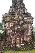 Stone carvings on monument B4 one of the Cham Temple ruins at the My Son Sanctuary, Quang Nam Province, Vietnam, Southeast Asia