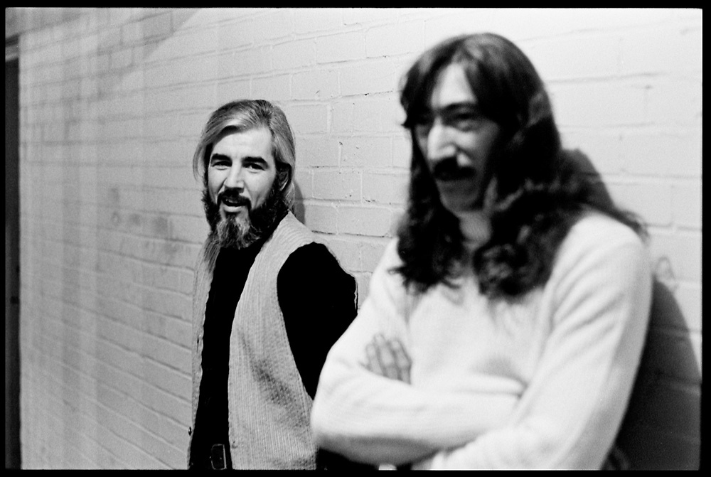 "Fall River, Massachusetts - 18 February 1968. John Leon ""Bunk"" Gardner (left) and Jimmy Carl Black of tThe Mothers of Invention prior to a performance.<br />