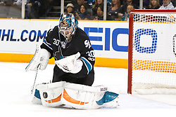 November 15, 2010; San Jose, CA, USA;  San Jose Sharks goalie Antero Niittymaki (30) makes a save against the Los Angeles Kings during the first period at HP Pavilion. Mandatory Credit: Jason O. Watson / US PRESSWIRE