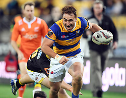 Bay of Plenty's Joe Webber trybound against Wellington in the Mitre 10 Rugby Final Championship match at Westpac Stadium, Wellington, New Zealand, Friday, October 27, 2017. Credit:SNPA / Ross Setford  **NO ARCHIVING**