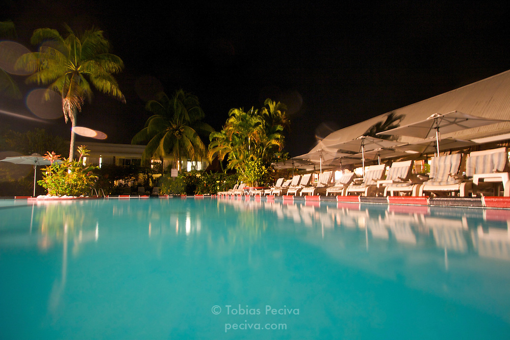 The pool at Aggie Grey's Hotel, in Apia, Western Samoa.