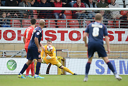Leyton Orient's Jamie Jones makes a save   - Photo mandatory by-line: Mitchell Gunn/JMP - Tel: Mobile: 07966 386802 29/09/2013 - SPORT - FOOTBALL -  Matchroom Stadium - London - Leyton Orient v Walsall - Sky Bet League One