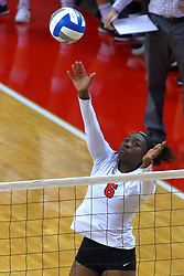 23 November 2017:  Juma Armando during a college women's volleyball match between the Valparaiso Crusaders and the Illinois State Redbirds in the Missouri Valley Conference Tournament at Redbird Arena in Normal IL (Photo by Alan Look)