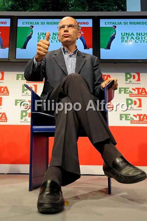 &copy; Filippo Alfero<br /> PD - Festa Democratica Nazionale<br /> Torino, 06/09/2010<br /> politica<br /> Nella foto: Enrico Letta