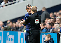 Football - 2019 / 2020 Premier League - Tottenham Hotspur vs. Watford<br /> <br /> The Spurs assistant manager complains to the fourth official about Watfords time wasting at The Tottenham Hotspur Stadium.<br /> <br /> COLORSPORT/DANIEL BEARHAM