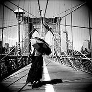 Summer day on the Brooklyn Bridge