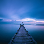Long exposure of pier at Altona Yacht Club, Melbourne