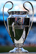 Champions League trophy  during the Champions League match between Manchester City and Real Madrid at the Etihad Stadium, Manchester, England on 26 April 2016. Photo by Simon Davies.