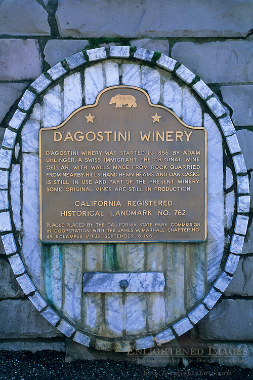 Sobon Estates Winery, orig. historic D'Agostini Vineyard, one of oldest in CA Amador County, California