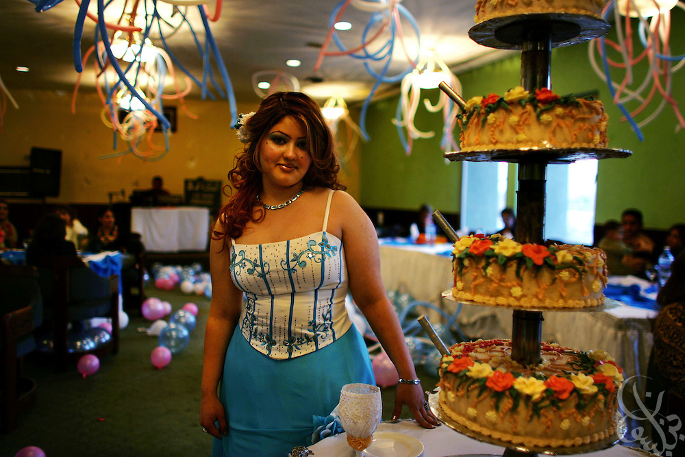 BAGHDAD, IRAQ - December 08, 2005:  Hamzaa Janabi, age 21 celebrates at her birthday at the Hunting Club. The Hunting Club is a social and sport club in the Mansour district of Baghdad for those Iraqis who are wealthy enough to afford it.