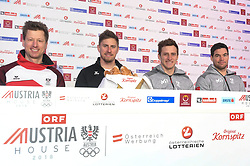 09.02.2018, Austria House, Pyeongchang, KOR, PyeongChang 2018, Pressekonferenz, im Bild V:L:Reichelt Franz, Mayer, Kriechmayr // V:L:Reichelt Franz, Mayer, Kriechmayr during a Pressconference of the Austrian Olympic Team in the Austria House in Pyeongchang, South Korea on 2018/02/09. EXPA Pictures © 2018, PhotoCredit: EXPA/ Erich Spiess