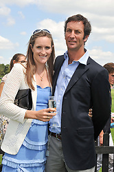 NINA CLARKIN and her husband JP CLARKIN at the Audi International Polo Day held at Guards Polo Club, Smith's Lawn, Windsor on 22nd July 2012.