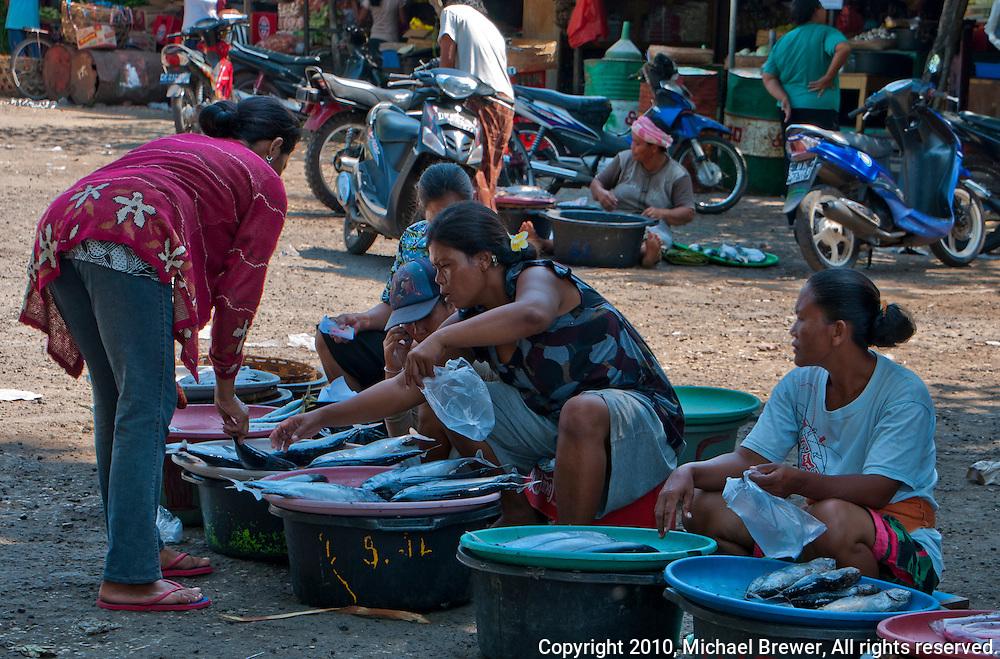 Fish market on Nusa Penida, Bali, Indonesia