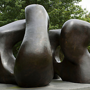 August 20, 2012 - Purchase, NY : Henry Moore's 'Large Two Forms, 1966-69' (Bronze, collection of the Neuberger Museum, Gift of Henry Moore and Roy Marie Neuberger) greets visitors to SUNY Purchase at the campus's southern entrance. CREDIT: Karsten Moran for The New York Times
