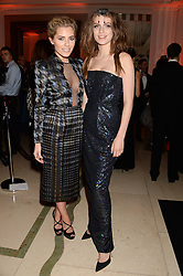 Left to right, MOLLIE KING and TALI LENNOX at the Harper???s Bazaar Women of the Year 2013 in association with Estée Lauder, Audemars Piguet and Selfridges & Co. held at Claridge's, Brook Street, London on 5th November 2013.