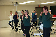 Cleveland county extension exercise program for aging women. Brenda Hill is the extension educator.